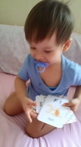 Learning his ABCs