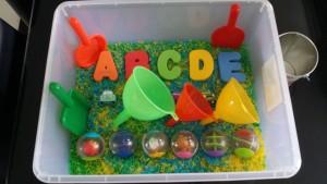 Rainbow Rice Activity Box Set Up by MLBB