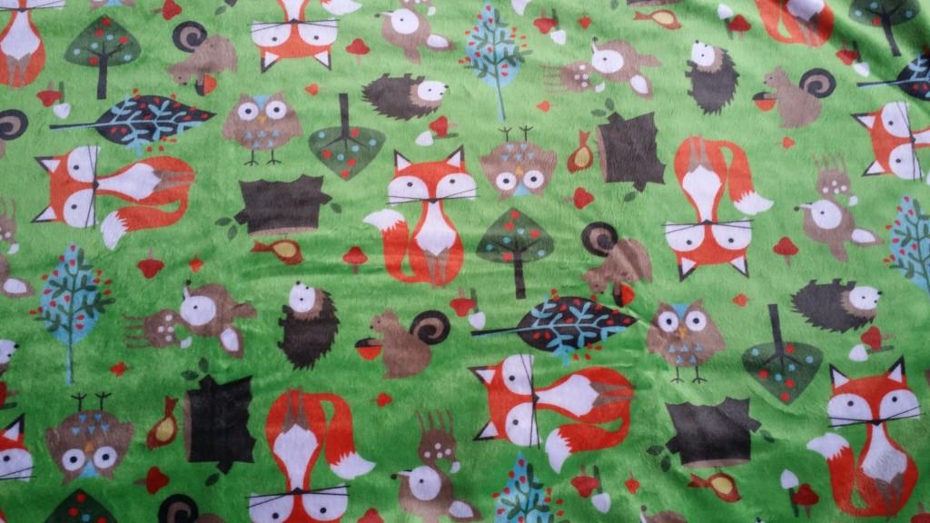 Forest Animals Minky Blanket