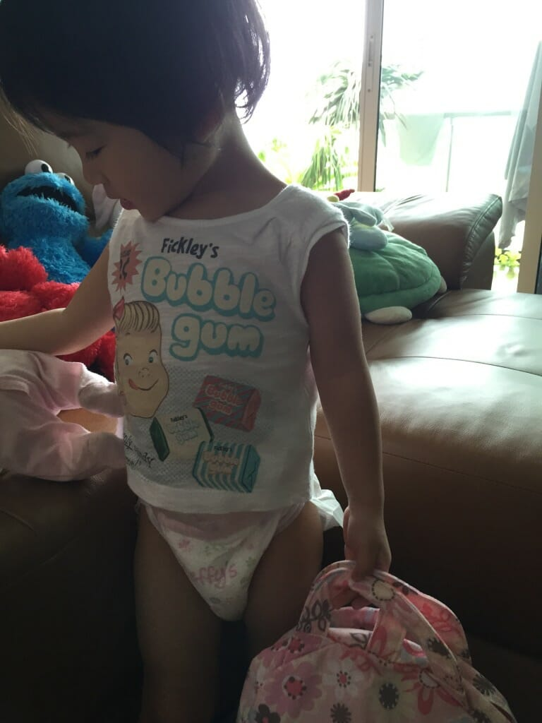 Kayla in Beffy's Diaper