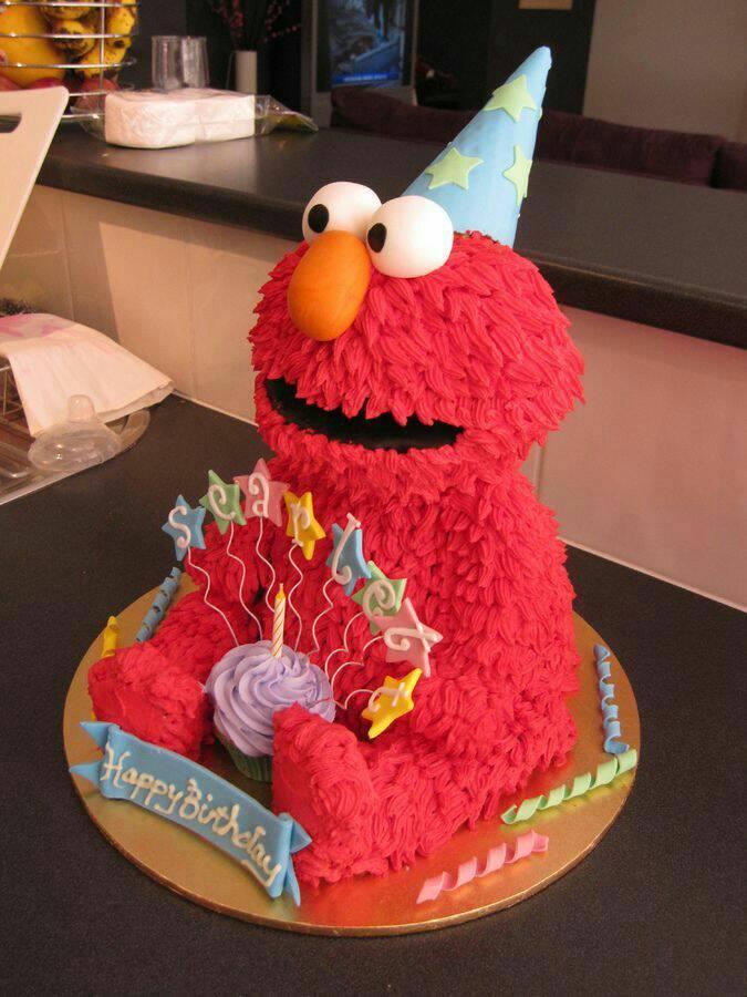 The supposed birthday cake design ):