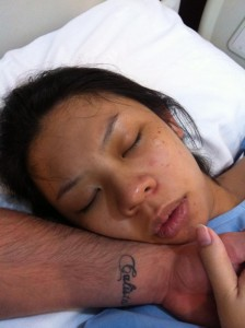 This is how i looked like mins after giving birth.